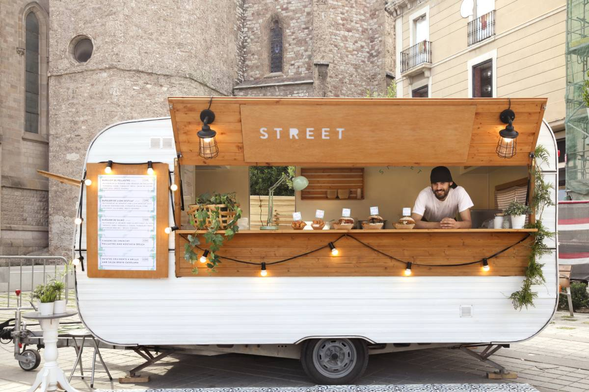 pop-up food stall